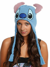 Disney Lilo & Stitch Plush Laplander Knit Beanie Hat Embroidered Face With Ears