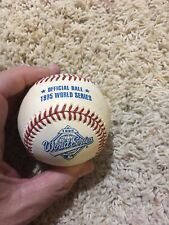 Greg Maddux Braves Autographed Signed 1995 World Series Logo Baseball Was Jsa