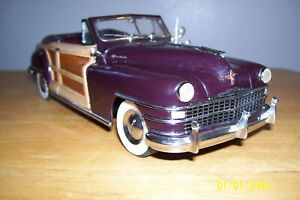 danbury mint 1/24 diecast 1948 Chrysler town+country convertible