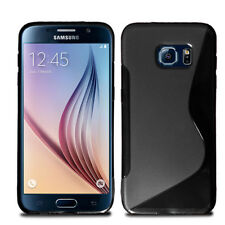 Ultra Slim Soft Wave Gel Case Phone Cover For Samsung Galaxy S6 Edge & Screen