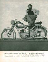 Publicité ancienne moto Tchécoslovaque 1951 issue de magazine