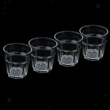4pcs Acrylic Tumbler Soda Cups Drinking Glasses Water Tea Juice 300ml