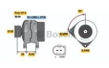 BOSCH Alternador 110A Para VW TOURAN CRAFTER CADDY 0 986 045 390