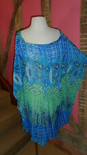 Size 12 Bat wing Top in Blue & Green Polyester by Urban Behaviour. Brand New