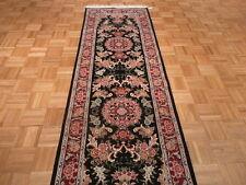 8 Ft. Runner Hand Knotted Tabriz Design Oriental Rug 300 Kpsi