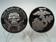 USMC Death Smiles Back Challenge Coin Marines Corps Military United States Sempe
