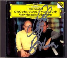Gidon KREMER & Valery AFANASSIEV Signed SCHUBERT Violin Sonata D.574 Fantasie CD