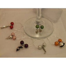 Set of 6 Handmade Variety Wine Glass Charms www.libbysmarketplace.com - FREE P&P