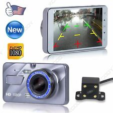 4'' Full HD 1080P Dual Lens Car DVR Camera Vehicle Video Recorder Dash Cam Night
