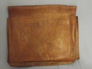 Porte document ouverture porte feuille de notaire en cuir  début XXème siècle.