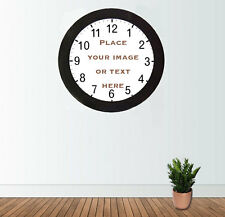 Personalised Clock Text Logo Photo Sports team Gift Valentines Birthday