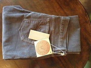 James Cured By Seun womens grey corduroy trousers 28' 36L