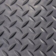 Rubber-Cal Diamond Plate Rubber Flooring Rolls 180 x 48 x 0.13 in.