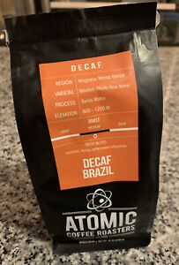 Atomic Coffee DECAF BRAZIL Fresh Roasted Coffee Beans 12oz Salem MA