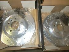 Xtreme Stop Precision Cross-Drilled & Slotted Rotors - Front Pair (11-14 Standar