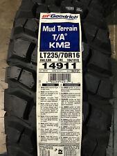 2 New LT 235 70 16 LRC 6 Ply BFGoodrich Mud Terrain T/A KM2 Mud Tires