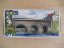 Kibri - ref.37661 - Puente de piedra en curva 45º (R=192-195 mm)