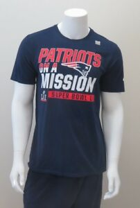 "Official NFL New England Patriots Super Bowl LI ""ON A MISSON"" Nike T-Shirt"