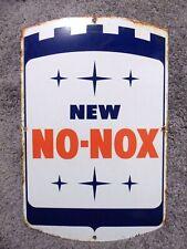 Vintage Gulf No Nox Sign Porcelain Gas Pump Station Gasoline Old Original Oil