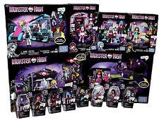 Monster High Mega Bloks Complete Sets Plus Figures Garden Party Moviemobile +