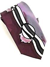 DASKAL Robert Artist Signed Tie Silk Abstract Purples MAKE OFFER
