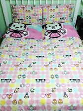 8 Piece Disney TSUM TSUM Queen Sheet Set Curtains Shams Pillowcases Flat Fitted