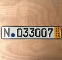 Genuine Single Temporary Germany Licence Number Plate