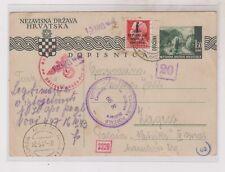 CROATIA WW II,postal stationery used in Italy 1944 REP.Sociale Italiana RRR
