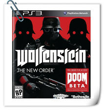 PS3 Wolfenstein The New Order SONY PLAYSTATION Shooting Games Bethesda