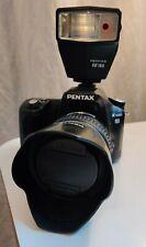 PENTAX K100D 6.1MP Digital SLR Camera set Black w/ DA AL 18-55mm and AF160 Flash