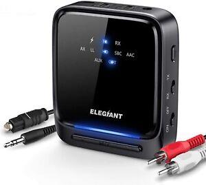 ELEGIANT BT 5.0 Receiver 3D HIFI Wireless Audio Adapter aptX LL 3.5 mm / RCA