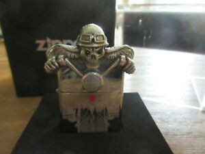 Original Zippo Ghost Death Rider Skull Biker Chopper Sturmfeuerzeug Limited 1570