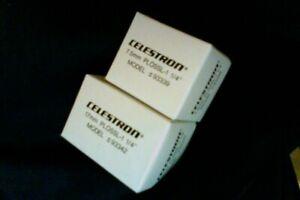 "Celestron - 7.5 mm & 17 mm Plossl Oculars - M/C  (1.25"") +  Lens Caps  (Vintage)"