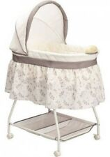 Baby Nursery Crib Musical Bassinet Bed Infant Cradle Newborn Bedding Furniture
