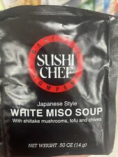 2 packs Sushi Chef Japanese Style White Miso Soup .50 oz each