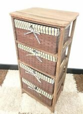 Wicker Bathroom Chests of Drawers