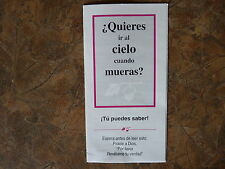 100 Spanish version Gospel Tracts - Share your faith - God  -Ships FREE in US