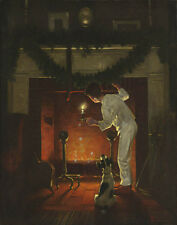 Norman Rockwell Is He Coming #1 Print 11 x 14   #3882