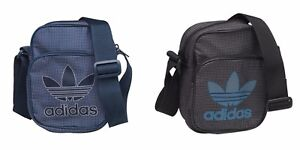 Adidas Originals Trefoil Mini Team Bag / Messenger / Flight. BLACK or BLUE
