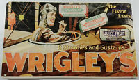 WRIGLEY'S CHEWING GUM AIRPLANE PILOT SPEARMINT DOUBLEMINT JUICY FRUIT METAL SIGN