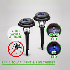 Solar Powered LED Light Mosquito  Zapper Pest Bug Insect Killer Garden Lawn Lamp
