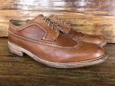Mens Frye Wingtip Lace Up Shoes Brown Leather Size 11.5 D