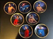 7 Star Trek 25th Anniversary Hamilton Collector Plate Kirk Uhura Sulu NCC-1701