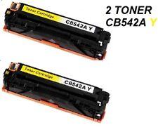 2 x CARTUCCIA PER STAMPANTE HP COLOR LASERJET CM1312  TONER CB542A 125A YELLOW