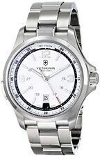 Victorinox Men's 241571 Analog Display Swiss Quartz Silver Watch..