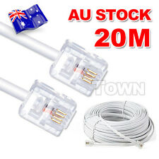 20M Telephone Cable Extension Cord RJ11 Lead Plug Filter Modem Fax ADSL Port