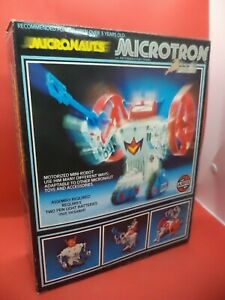 boxed MICRONAUTS MICROTRON old vintage AIRFIX ROBOT MEGO 1980S CRATER CRUNCHER