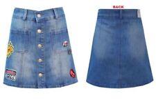 Faldas de mujer corto en color principal azul 100% algodón