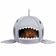 Unique Shark Mouth Pet Dog Cat House Removable&Washable Dog Bed,up to 10lb