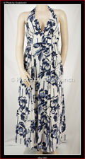 Silk Floral Party Halter Vintage Inspired Marilyn Dress Size 16 New Without Tags
